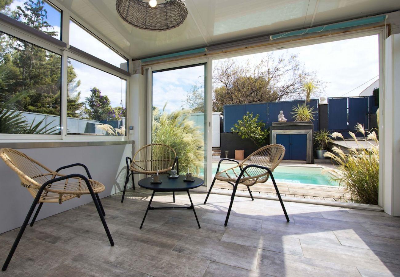 Maison à La Ciotat - GARARRO. Maison bohème, piscine, clim, jardin