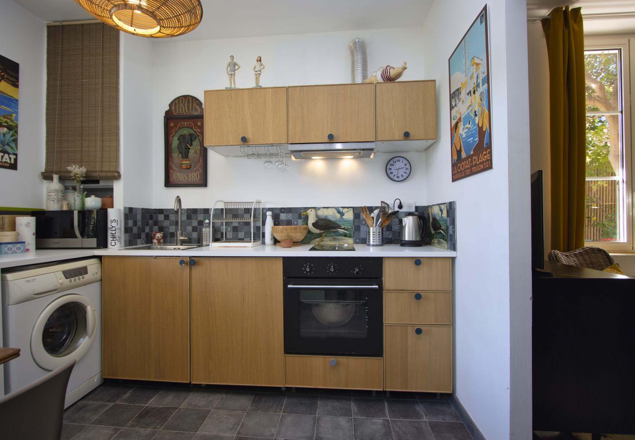 Appartement à La Ciotat - Le Lamiolo. Appartement de standing, cour, piscine